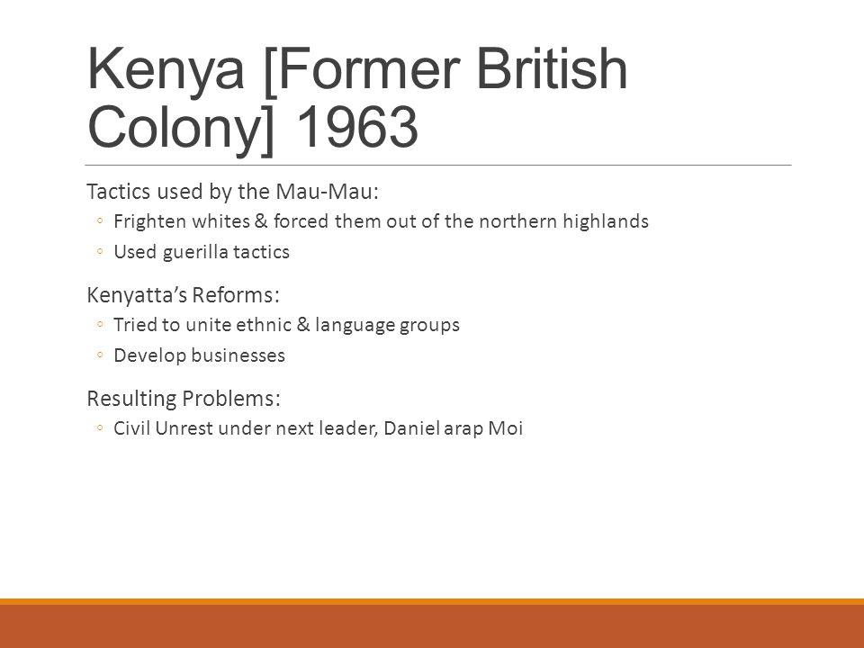 Kenya [Former British Colony] 1963
